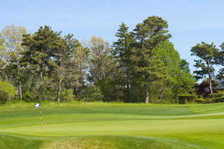 Putting green with flag at golf course, country club Stock Photo - 3108279