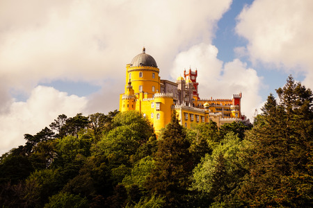 Pena National Palace in Sintra, Portugal Editorial