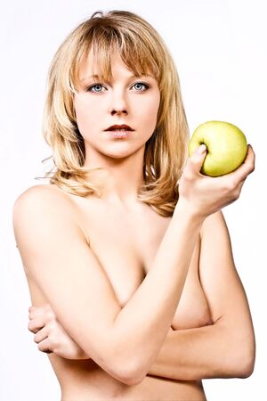 woman with apple 2