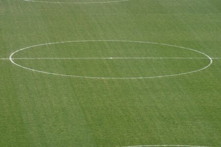 Picture Of The Center Of A SoccerFootball Field Stock Photo