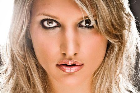 Closeup Portrait Of A Beautiful Blond Woman
