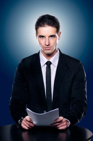 Photo Of A Handsome Presentable News Or Corporate Man Standard-Bild
