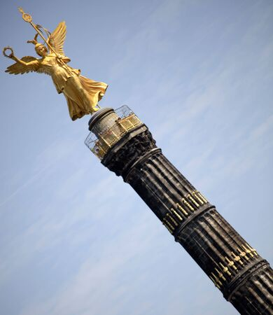 Perspective Photo Of A Magnificent Golden Statue  photo