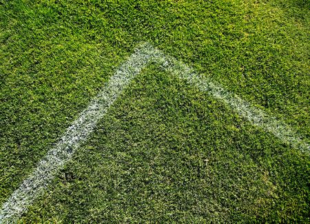 Photo Of A Grassy Soccer Field Angled Marked Zone Stock Photo - 5464654