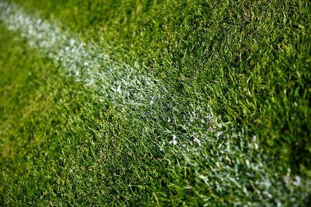 Closeup Photo Of A Soccer Field Line Stock Photo - 5464659