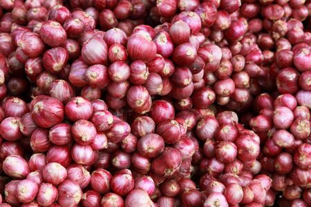 Lots Of Red Onion Bundles On Sale In The Market