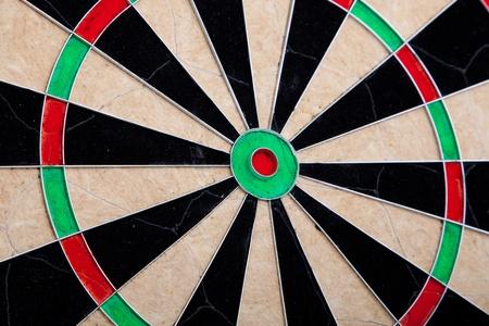 Perspective Image Of Empty Cracked Darts Board  Standard-Bild