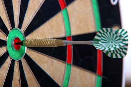 Arrow Stiffed Right In The Middle Of Darts Board photo
