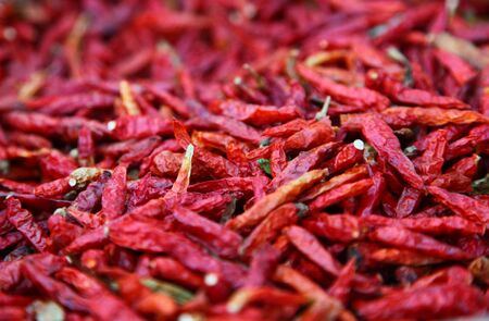 Hot Chili Peppers Red And Dried Ready To Spice Up Your Food  Stock Photo