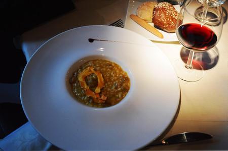 Wedding italian dish: Risotto with pumpkin and porcini mushrooms Reklamní fotografie