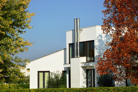Country modern house Stock Photo