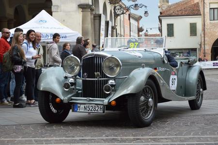 Bentley 3.5 Vanden Plas, 1934: Stage of race retro car1000 Miles - Este Italy May 16, 2014 Editorial