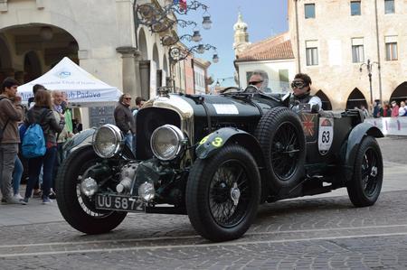 1000 Miles, may 16 2014, Este - Italy: Bentley 4.5 Litre SC, 1930 Editorial
