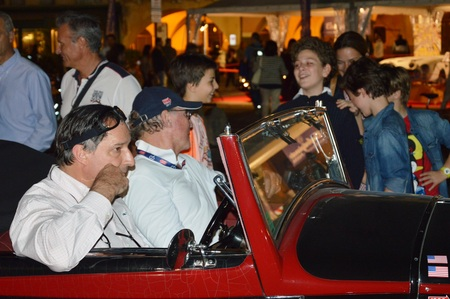 restored: People at retro car race 1000 Miles in Padua, Italy - May 18 2017 Editorial