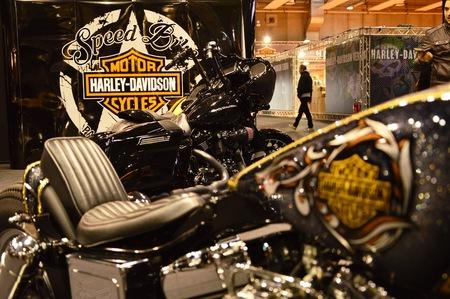 Verona, Italy - jan 20 2017: motor bike expo, motorbike Harley Davidson