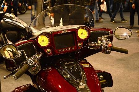 Verona, Italy - jan 20 2017: motor bike expo, motorbike Indian