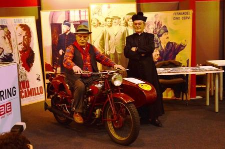Verona, Italy - jan 20 2017: motor bike expo, people