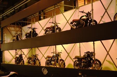 Verona, Italy - Jan 20 2017: motorcycle expo, café racer motorbike Editorial