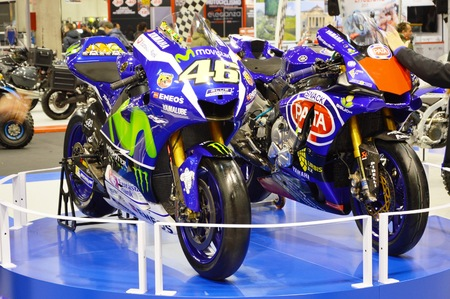 Verona, Italy - jan 20 2017: motor bike expo, Yamaha M1 Valentino Rossi 46 Editorial