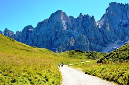Mountain tramping dolomites