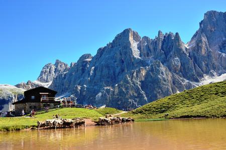 Mountain Dolomites landscape