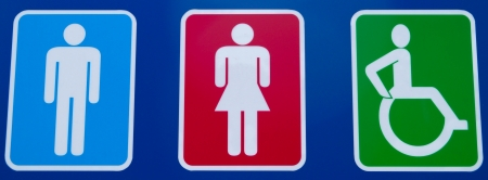 crippled: toilet sign
