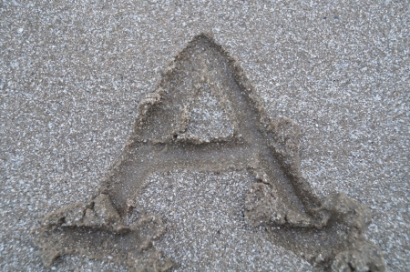 A letter on beach         photo