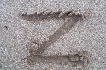 Z letter on beach                 photo