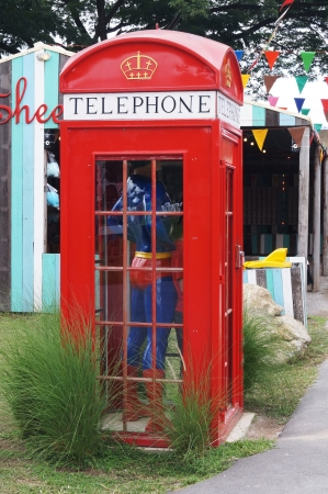 super man in telephone box