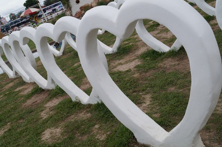 hart: white hart garden  Stock Photo