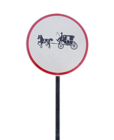 CARRIAGE HORSE SIGN photo