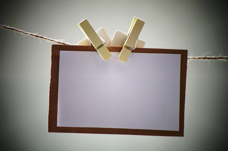 gray writting paper with peg for education