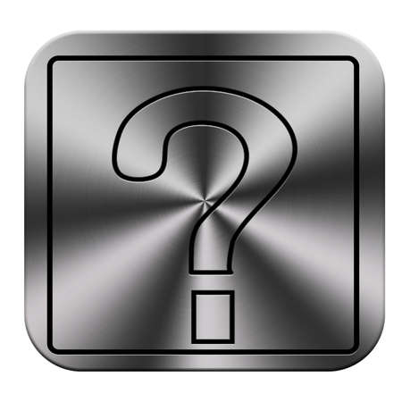 question icon and button work Stock Photo - 23649815