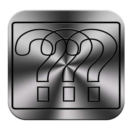 question icon and button work Stock Photo - 23649812