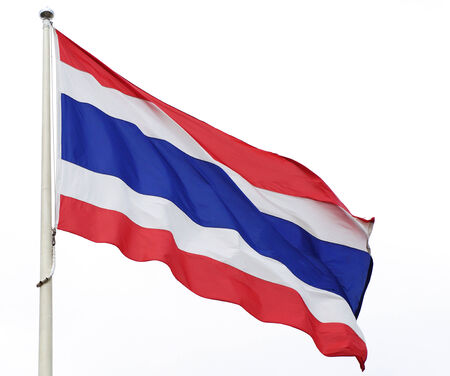 thailander: Thai flag isolated on white  Stock Photo