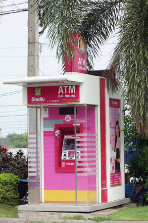 cash dispenser: ATM for getting money in gass station of Thailand