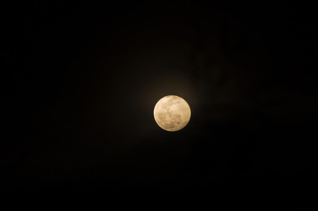 full moon in dark in Songkran day, Thailand photo