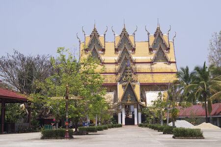 Thai temple in Kanchanaburi, Thailand photo