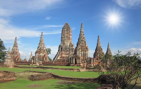 Thai temple and pagoda photo