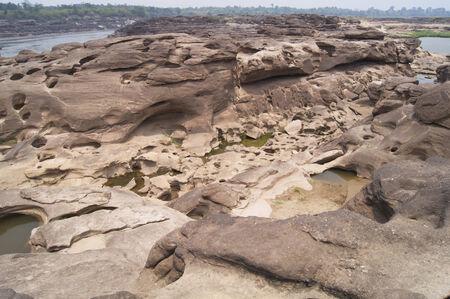 kong river: stone in Kong river, Sampanbog in Ubon- ratchatani, Thailand