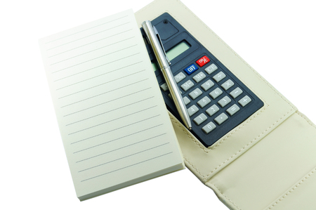 calculator on white background photo