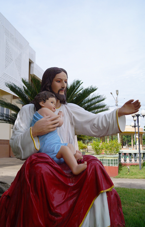 fraternity: Christian statue Stock Photo