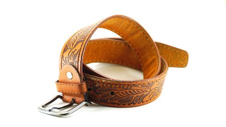 orifice: Leather belt