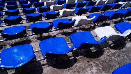 blue chair in stadium photo