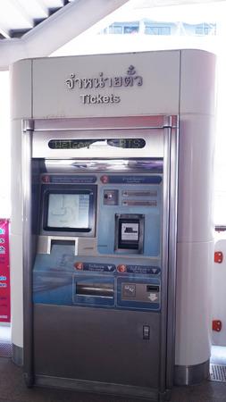 ticketing: BTS station in Bangkok, 20 September 2014.ticket selling machine of BTS in BTS station in Bangkok of Thailand Editorial