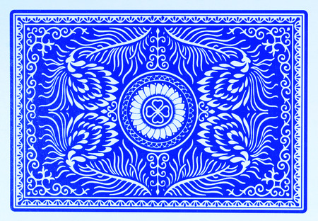 blue back of playing card Фото со стока