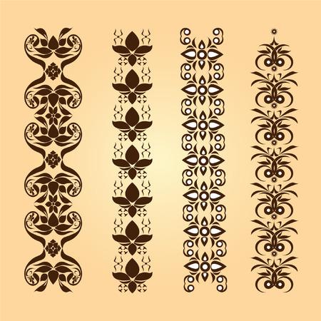 fame: pattern of Thai art flower border for fame
