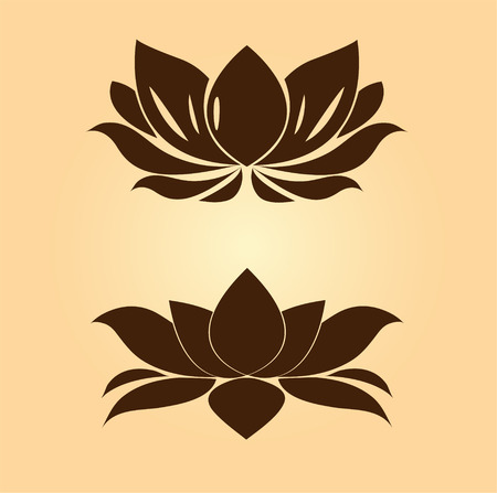 lotus petal: brown lotus vector Illustration