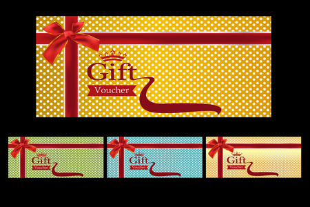 Gold Ticket, Voucher, Gift Certificate, Coupon Template With ...