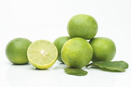 lemons on the white ground